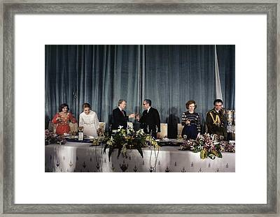 At The Tehran Palace On New Years Eve Framed Print by Everett