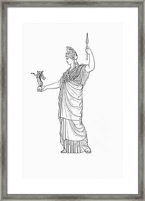 Athena, Greek Goddess Framed Print by Photo Researchers
