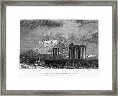 Athens: Olympian Zeus Framed Print by Granger