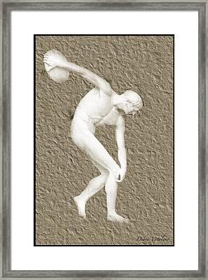 Athlete 2 Framed Print by Debra     Vatalaro