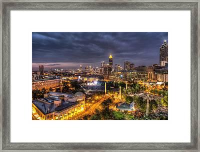 Atlanta Skyline Framed Print