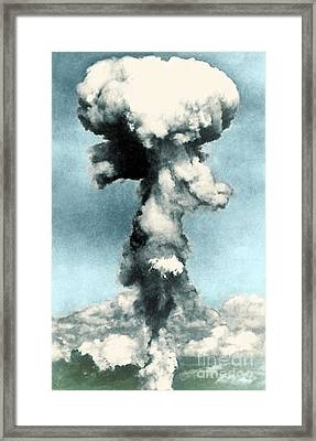 Atomic Bombing Of Nagasaki Framed Print by Science Source