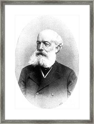 August Kekul�, German Organic Chemist Framed Print by Science Source