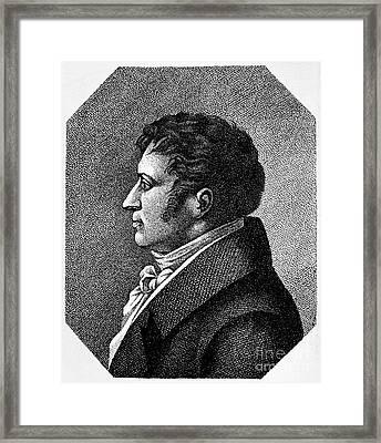 August Von Schlegel Framed Print by Granger