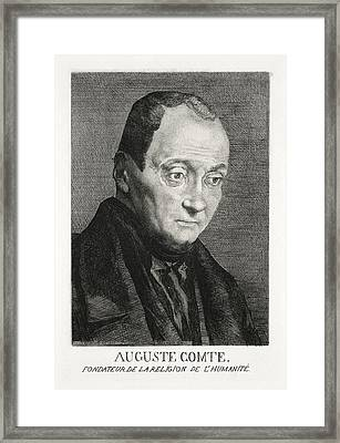 Auguste Comte, French Philosopher Framed Print by Humanities & Social Sciences Librarynew York Public Library