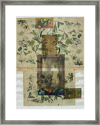 Aunt Addie And The Seance Woman Framed Print