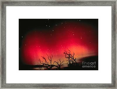 Aurora Australis, Southern Lights Framed Print by Science Source