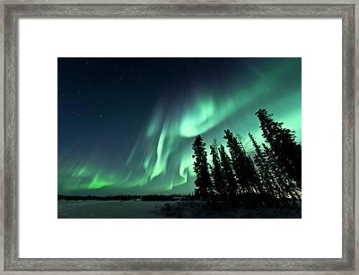 Aurora Borealis Framed Print by Michael Ericsson