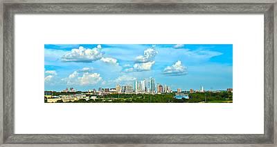 Austin Cityscape Framed Print by Andrew Nourse