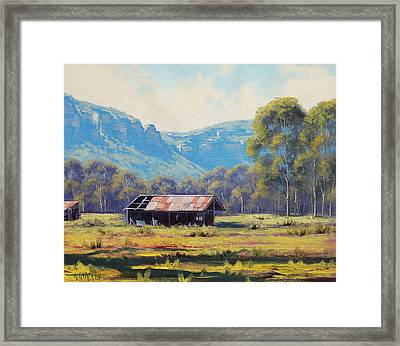 Australian Landscape Lithgow  Framed Print