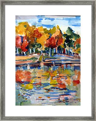 Autumn Color Framed Print by Mindy Newman