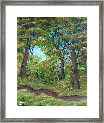 Framed Print featuring the painting Autumn Evening by Charles and Melisa Morrison