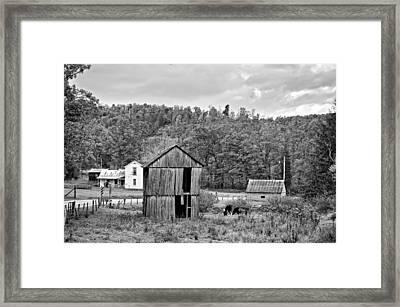 Autumn Farm Monochrome Framed Print by Steve Harrington