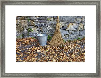 Autumn In The Garden Framed Print by Joana Kruse