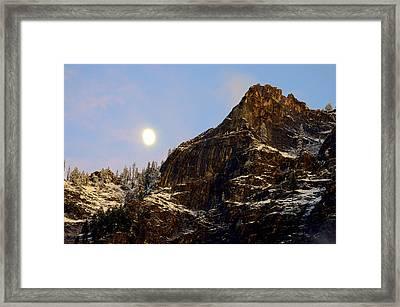 Autumn Moon Framed Print by Lynn Bawden
