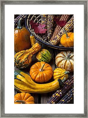 Autumn Still Life Framed Print by Garry Gay