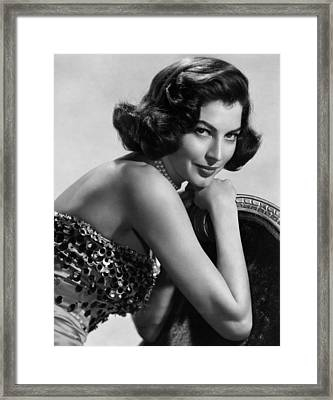 Ava Gardner, 1952 Framed Print by Everett