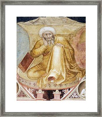 Averroes, Islamic Physician Framed Print by Sheila Terry