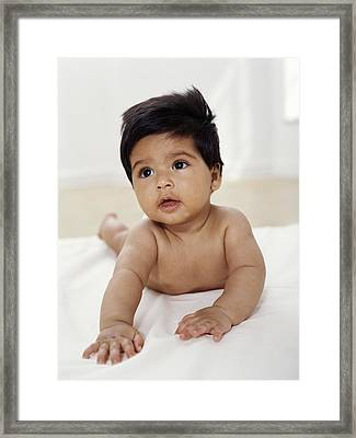 Baby Boy Framed Print by Ian Boddy