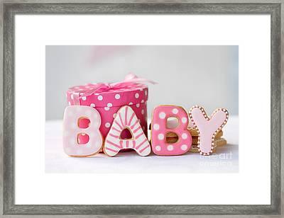 Baby Shower Cookies Framed Print