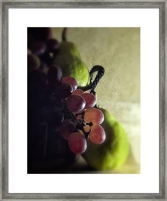 Back Lit Grape Still Life Framed Print by Andrew Soundarajan