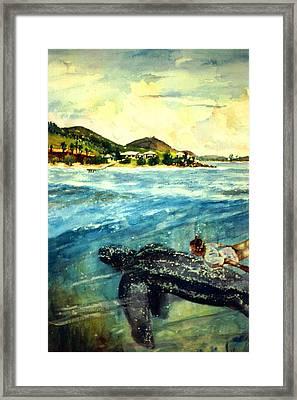 Back To Culebra Island Puerto Rico Framed Print by Estela Robles