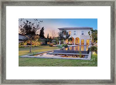 Backyard Of Upscale Residence Framed Print by Noam Armonn