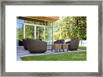 Backyard Patio Area Framed Print by Inti St. Clair