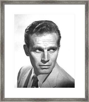 Bad For Each Other, Charlton Heston Framed Print by Everett