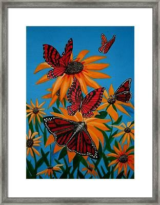 Badsunflower Framed Print