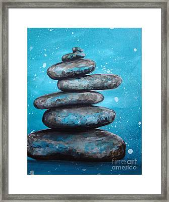 Framed Print featuring the painting Balance II by Susan Fisher
