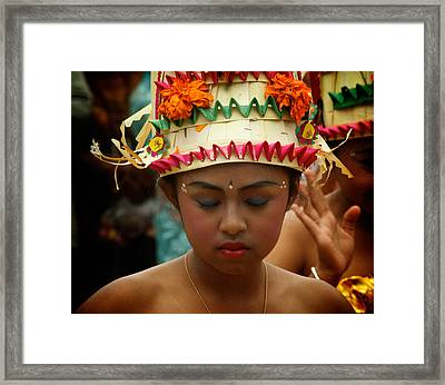 Balinese Dancer Framed Print by Ari Saaski