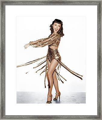 Ball Of Fire, Barbara Stanwyck, 1941 Framed Print by Everett
