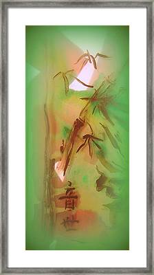 Bamboo After Rain Framed Print by Wendy Wiese