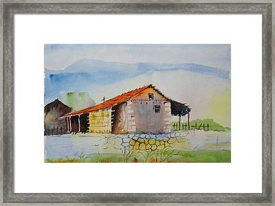 Bamboo House Framed Print