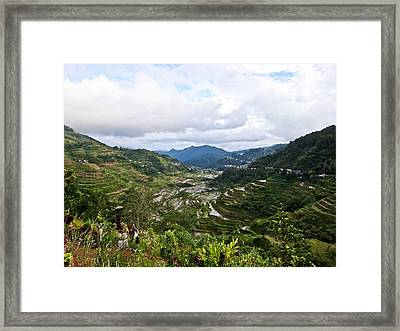 Banaue Rice Terraces Framed Print