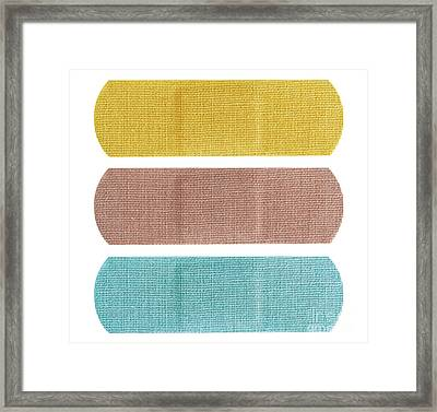 Bandaid Set Framed Print