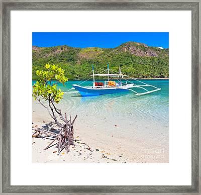 Bangka Boat Framed Print by MotHaiBaPhoto Prints