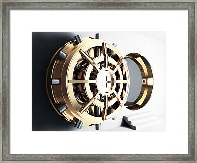 Bank Vault Door 3d Framed Print by Gualtiero Boffi