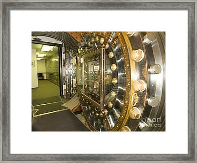 Bank Vault Interior Framed Print by Adam Crowley
