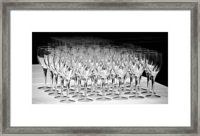 Banquet Glasses Framed Print