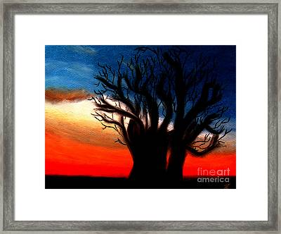 Framed Print featuring the pastel Baobab Tree by Ayasha Loya