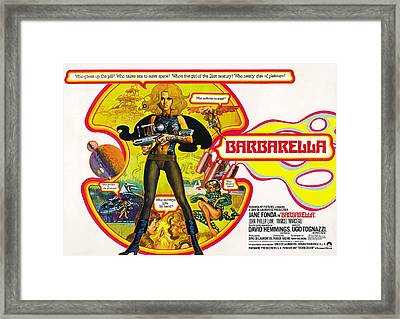 Barbarella, Jane Fonda, 1968 Framed Print