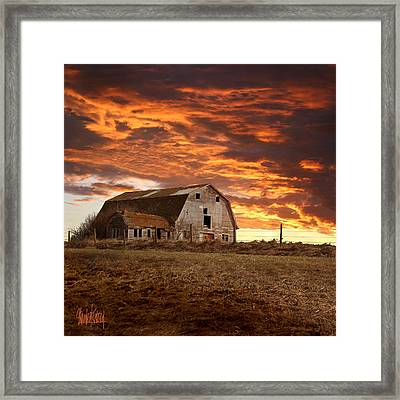 Barn On Highway 21 Framed Print