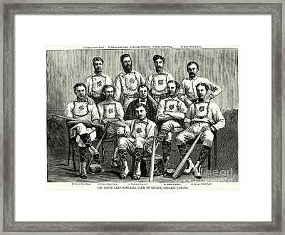 Baseball: Canada, 1874 Framed Print by Granger