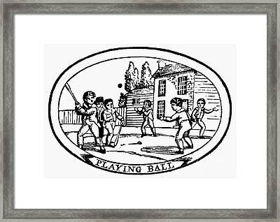 Baseball Game, 1820 Framed Print by Granger