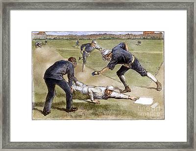 Baseball Game, 1885 Framed Print by Granger
