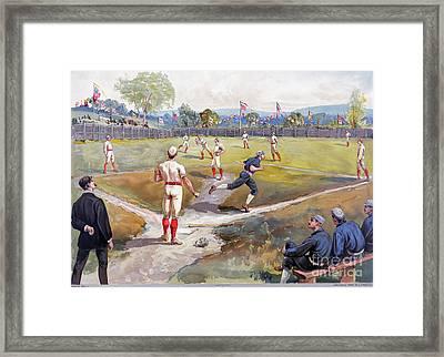 Baseball Game, C1887 Framed Print by Granger