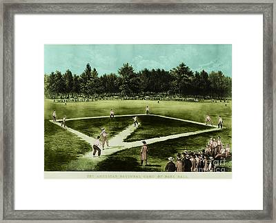 Baseball In 1846 Framed Print by Omikron