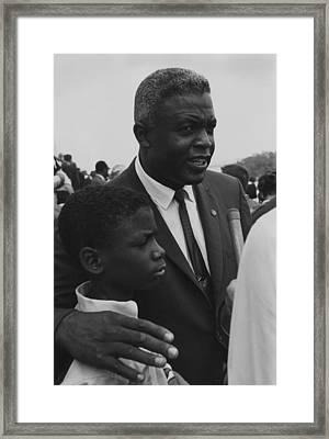 Baseball Player Jackie Robinson Framed Print by Everett